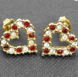 Avon heart shaped stud earrings